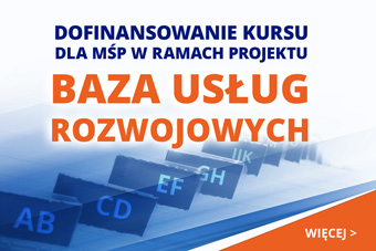 Dofinansowanie Kursu dla MŚP w ramach projektu Baza Usług Rozwojowych